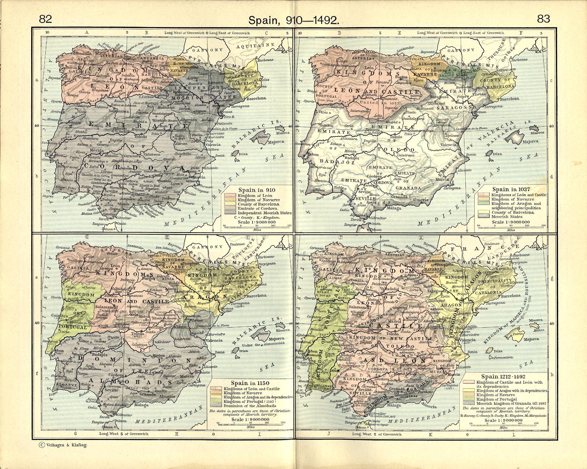 Moorish History in Spain The Moorish Areas of Spain