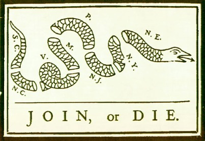 Join or Die, 1754